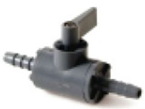 """Picture of 1/4"""" PVC Ball Valve Barb x Barb"""