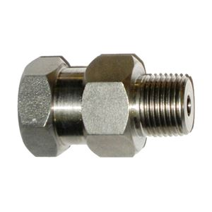 """Picture of High Pressure SS Swivel 3/8"""" F x 3/8"""" M, 5000 PSI"""