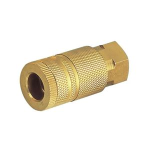 """Picture of Kuriyama 1/4"""" Air Quick Disconnect Coupler Socket, 1/4"""" FPT, Brass, 300 PSI"""