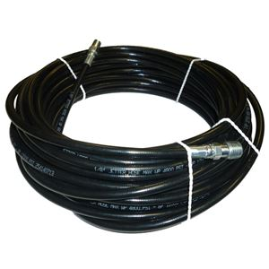 """Schieffer 1//8/"""" x 100/' 4800 PSI Thermoplastic Sewer Jetter Hose /& 4.0 Nozzle"""