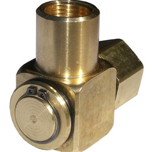 Picture of High Pressure 90° Hose Reel Swivel Brass 1/2 F x 1/2 F, 3000 PSI
