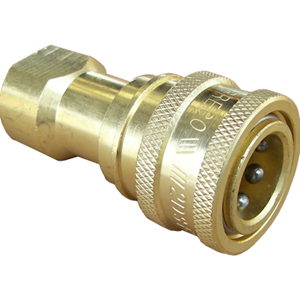 """Picture of 1/4"""" FPT Double/Two Way Shut-Off QC Socket, 5000 PSI"""
