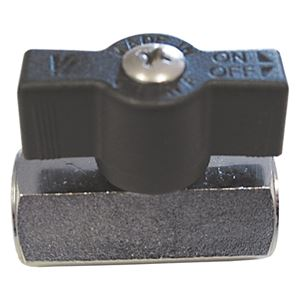 "Picture of 1/4"" Mini Chrome-Brass Ball Valve F x F, T-Handle"