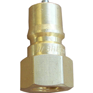 """Picture of 1/2"""" FPT Double/Two Way Shut-Off QC Plug, 4000 PSI"""