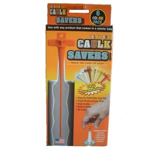 Picture of Caulk Saver Color Coded 6 Piece Box with Holder