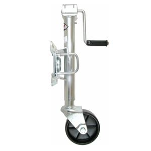 "Picture of 6"" Wheel Bolt On Swivel Mount Jack 1000 Lbs, 10"" Lift, Zinc Plated"