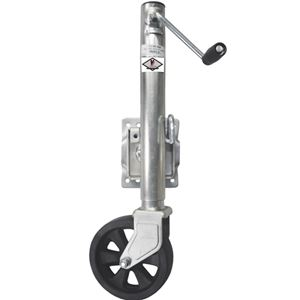 "Picture of 8"" HD Wheel Bolt On Swivel Mount Jack 1500 Lbs, 10"" Lift, Zinc Plated"