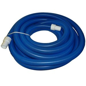 "Picture of 2"" x 50' Blue/Black I-Helix Commercial TM Vacuum Hose with White Cuffs"