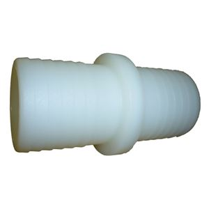 "Picture of 1-1/2"" Barb x 1-1/2"" Barb Connector White Nylon"
