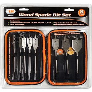 "Picture of 7 PC Wood Spade Bit Set with 6"" Extension & Soft Case"