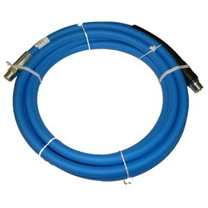 "Picture of CLEANSTREAM Blue Non-Marking 3/8"" x 18' Boom Hose Assembly 4,000 PSI"