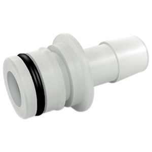 "Picture of 3/4"" QA X 1/2"" HB Straight Fitting w/ O-Ring, Nylon (5900 Series, 7822FS, FB2 7900 Series)"