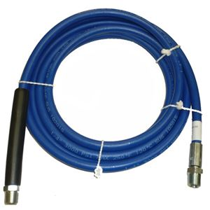"Picture of Blue Non-Marking 1/4"" x 12' Boom Hose Assembly 3,000 PSI with 3/8"" MPT"
