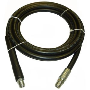 """Picture of Black Smooth Rubber 3/8"""" x 12' Boom Hose Assembly 4,000 PSI"""