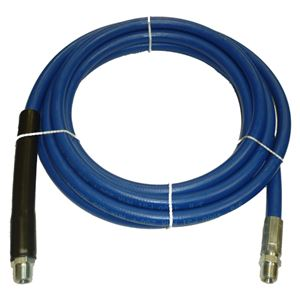 "Picture of Blue Non-Marking Smooth Rubber 3/8"" x 18' Boom Hose Assembly 4,000 PSI"