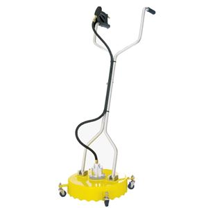"""Picture of 18"""" Whirl-A-Way Flat Surface Cleaner, Yellow, Casters"""