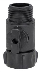 Picture of Black Nylon Shut-Off Valve with Swivel