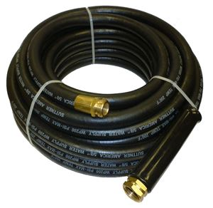 "Picture of Suttner 5/8"" x 150' Heavy Duty Back EPDM Rubber Water Supply Hose"