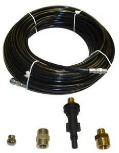 "Picture of AR Blue Clean Sewer Jetter Kit - 100' x 1/8 Hose & Nozzle, 1"" to 3"" Pipes"