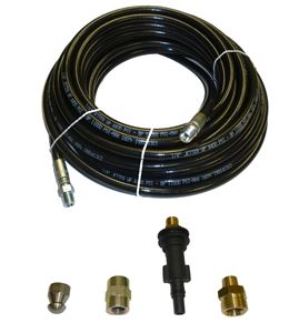 "Picture of AR Blue Clean Sewer Jetter Kit - 50' x 1/4 Hose & Nozzle, 2"" to 4"" Pipes"