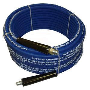 "Picture of 4,000 PSI Hose 3/8"" x 100' Blue Non-Marking"