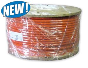"Picture of 1"" x 600' Wire Braided Sewer Jetter Hose 2,500 PSI Orange"