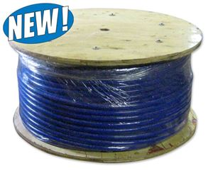 "Picture of 1"" x 600' Wire Braided Sewer Jetter Hose 3,000 PSI Blue"