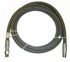"Picture of 3/8"" x 10' Grey 6,000 PSI Pressure Washer Jumper Hose"
