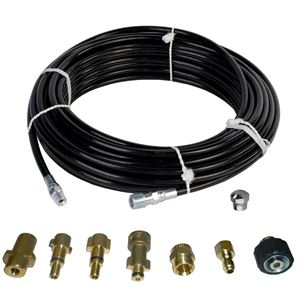 "Picture of Sewer Jetter Kit - 50' x 1/8 Hose & Nozzle, 1"" to 3"" Pipes"
