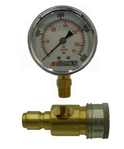 """Picture of 4,000 PSI 2.5"""" Pressure Gauge Test Kit with QC's"""