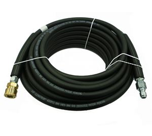 "Picture of CLEANSTREAM 4,000 PSI 3/8"" x 50' Black Non-Marring Hose w/ QC Couplers"