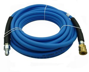 "Picture of CLEANSTREAM 4,000 PSI 3/8"" x 50' Blue Non-Marring Hose w/ QC Couplers"