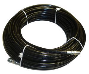 """Picture of 1/8"""" x 100' Sewer Jetter Hose 4,800 PSI Black"""