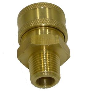 Picture of 1/4 MPT Quick Coupler Socket, Brass