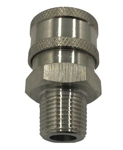 Picture of 3/8 MPT Quick Coupler Socket, Stainless Steel