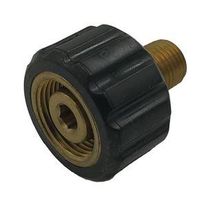 """Picture of TC Socket, 1/4"""" MPT x M22-14MM F Brass 4,000 PSI"""