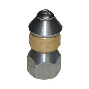 """Picture of Mecline Rotating Sewer Nozzle 1/4"""", #  5.0"""