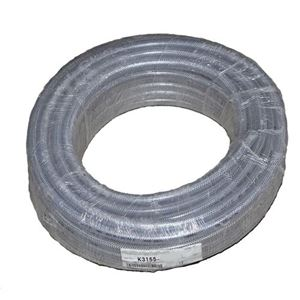 "Picture of 1/4"" x 100' PVC Clear Braided Hose Food Grade"
