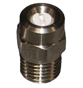 "Picture of #4.5 x 40º 1/4"" MPT High Pressure Ceramic Spray Nozzle"