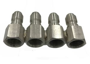 "Picture of JROD 4 Way Nozzle Holder (For 1/4"" MPT Nozzles)"