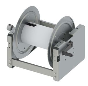 "Picture of 22"" Heavy Duty Aluminum, Manual 1/2"" x 400' Hose Reel with HARDCORE"