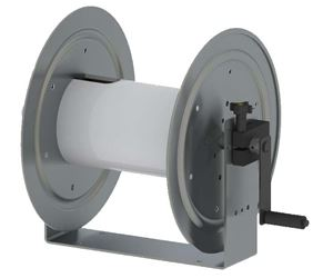 "Picture of 18"" Aluminum, Manual U-Channel 1/2"" x 325' Reel with HARDCORE"