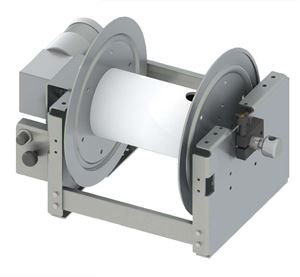 "Picture of 22"" Heavy Duty Aluminum, Electric 1/2"" x 400' Hose Reel with HARDCORE"