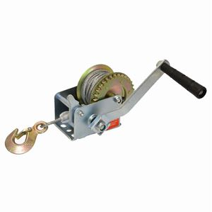Picture of 600 LBS Side Wind Trailer Winch with 8' Steel Cable & Hook