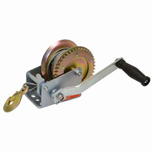 Picture of 1,000 LBS Side Wind Trailer Winch with 10' Steel Cable & Hook