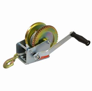 Picture of 1,600 LBS Side Wind Trailer Winch with 10' Steel Cable & Hook