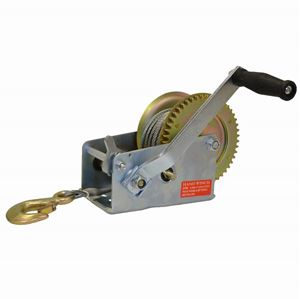 Picture of 2,500 LBS Side Wind Trailer Winch with 10' Steel Cable & Hook