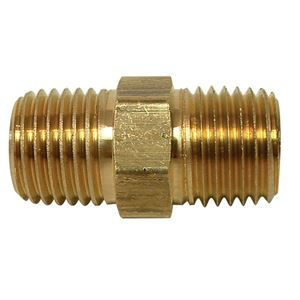 Picture of 3/8 x 3/8 Hex Nipple Brass