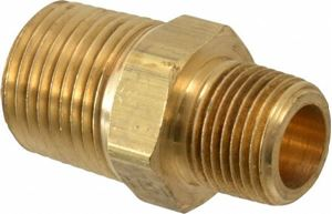 Picture of 1/2 x 3/8 Hex Nipple Brass