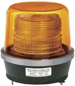 "Picture of 8.25"" Amber Class 2 Double Flash Strobe Light w/ Permanent Mt, 15.25 Joule"